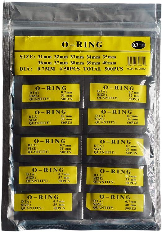 O-Ring-Uhrr/ückdichtung Gummidichtungen Unterlegscheiben LLF Uhrendichtungen Ersatzset