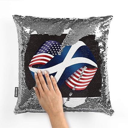 Amazon.com: NEONBLOND Mermaid Pillow Cover Friendship Flags ...