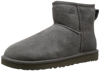 Ugg Classic Mini - Botines planos para mujer, color Gris (Grey), talla 40 EU: Amazon.es: Zapatos y complementos