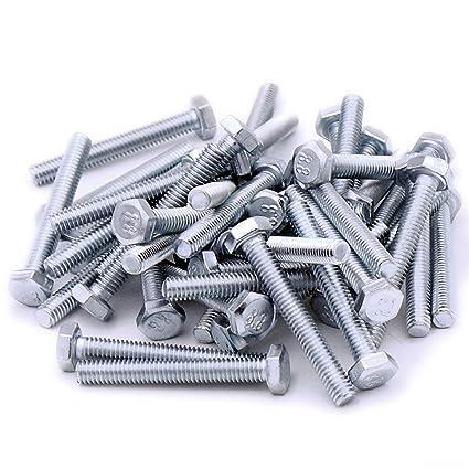 - Steel Fully Threaded Setscrew Hex Bolt Pack of 20 M5 5mm x 35mm