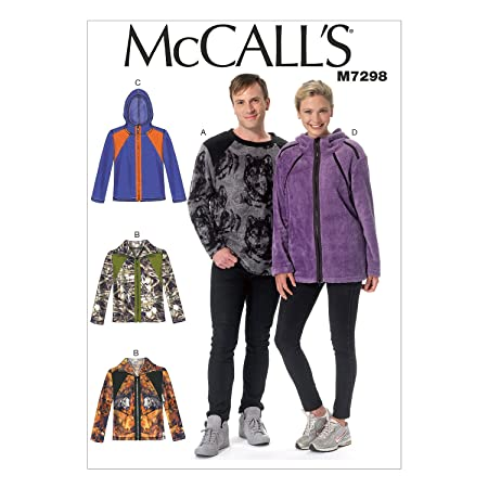 McCall\'s Patterns 7298 XN Sizes X-Large - 3X-Large Misses/Men\'s Top ...