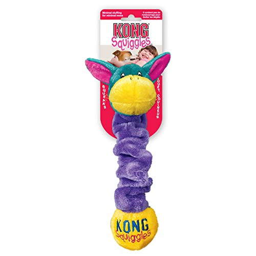 KONG Squiggles Dog Toy - Large, Blue