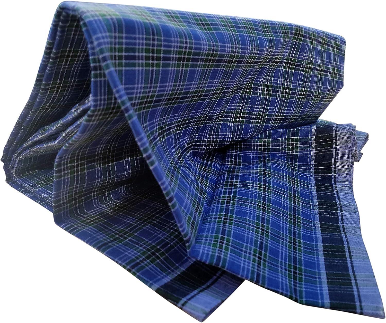 Mayaka786 Mens Cotton Lungi//Beachwear Sarong Unsewn Blue