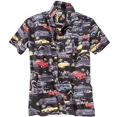 Kamro Hawaiihemd Mit Cadillac Motiv Schwarz 220 L Amazon De Bekleidung