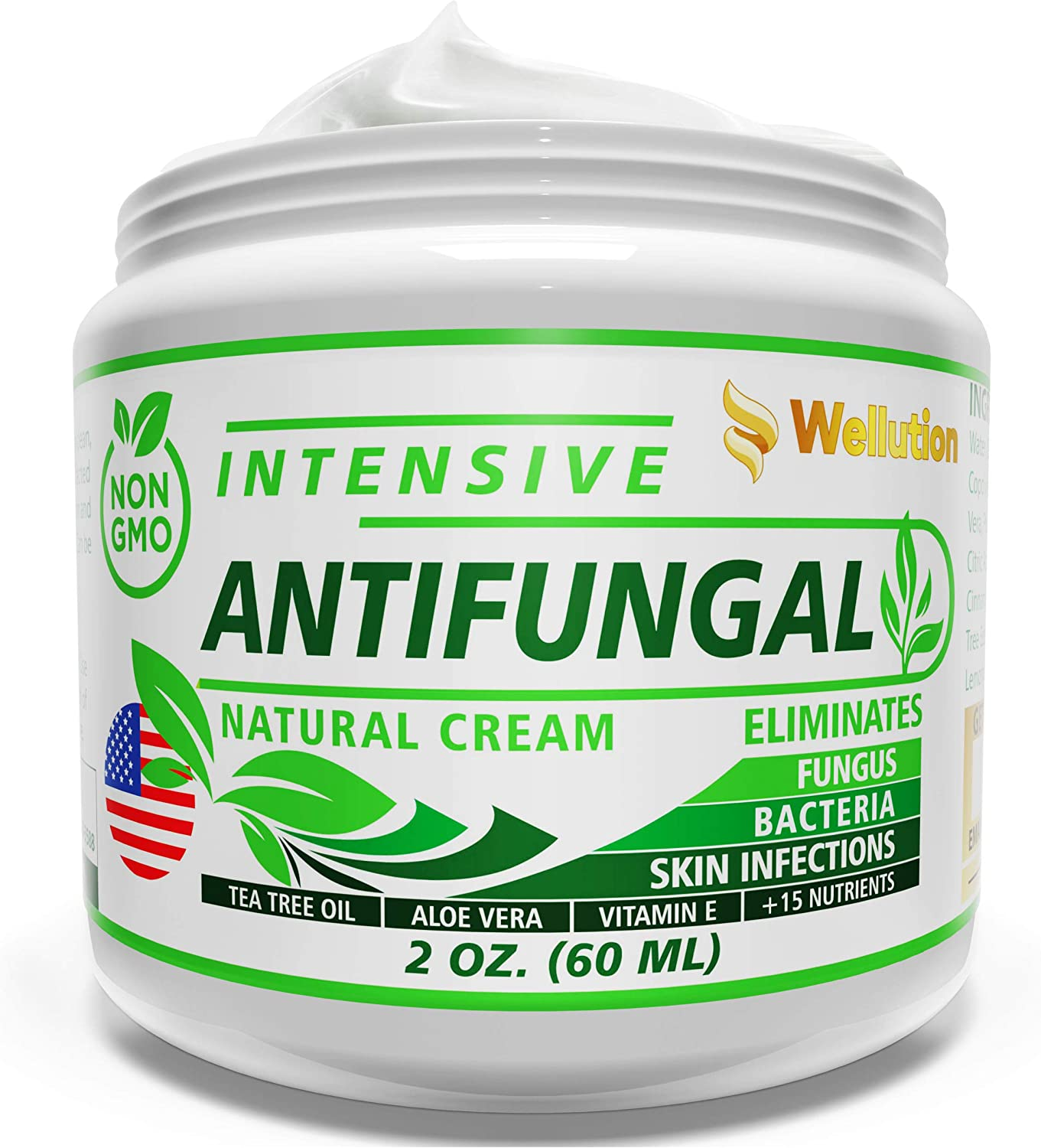 Antifungal Cream - Natural Hair, Skin & Nail - All in One, Intensive Head to Toe Treatment - Extra Strength Antimicrobial (Anti-Bacterial, Anti-Inflammatory, Anti-Viral & Anti-fungal): Health & Personal Care