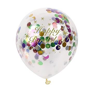Amazon.com: Feliz cumpleaños globos – confeti con confeti ...