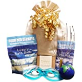 Premier DEAD SEA SECRETS Relaxation Bath & Body Spa Gift Set: Dead Sea Salts Lavender Dead Sea Mud Mask Eucalyptus Oil Tea Tree Oil Soap Stress Ball Scalp Massager Soothing Gel Eye Mask
