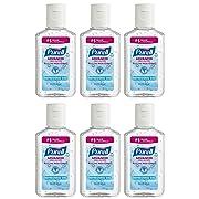 Purell Advanced Hand Sanitizer Refreshing Gel, 1 Fl Oz (6-Pack)