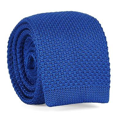 cravateSlim Corbata de Punto Azul Rey: Amazon.es: Ropa y accesorios