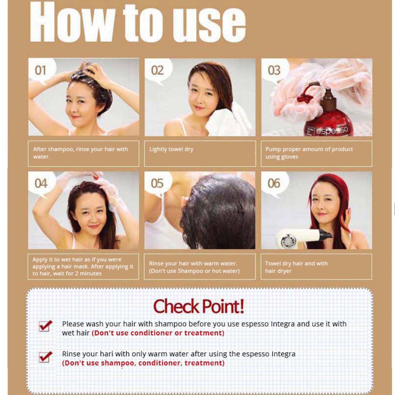 Hair Manicure Polish Color ESPESSO PLUS 50ml Diamond Powder Dark Brown Coating with Color K-Beauty MI Korea by ESPESSO PLUS (Image #9)