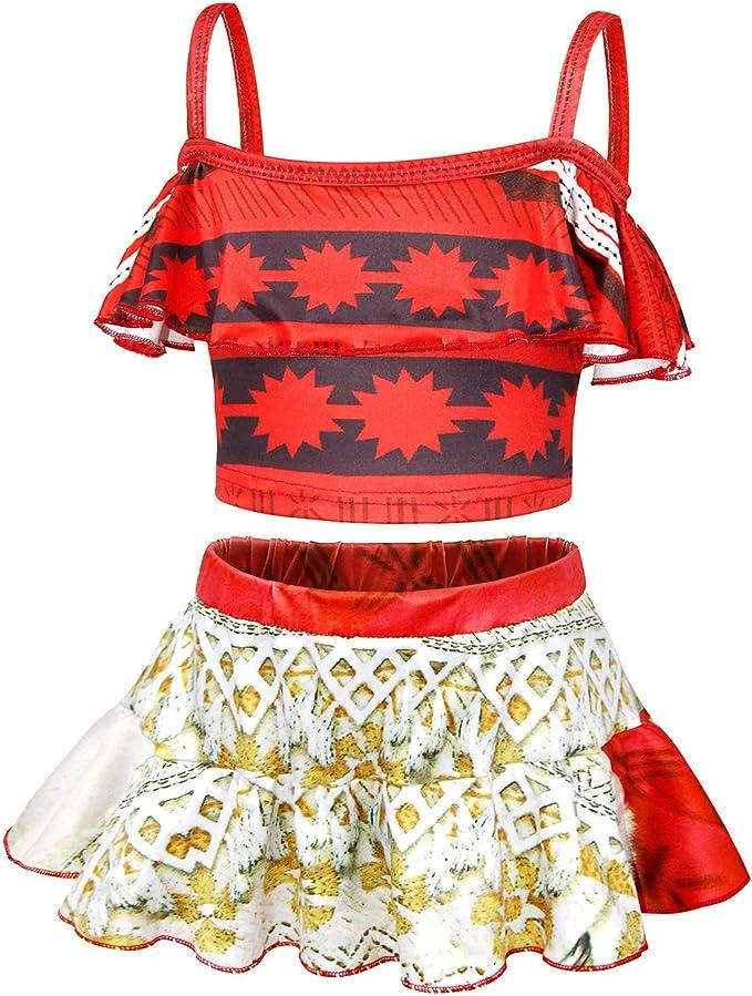 Amazon.com: AmzBarley Moana Trajes de baño para niñas de dos ...
