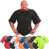 C.P.Sports S8-1 T-Shirt de fitness, bodybuilding Disponible dans les couleurs: marine, orange fluo, olive, bleu, noir, gris - Idéal pour la musculation