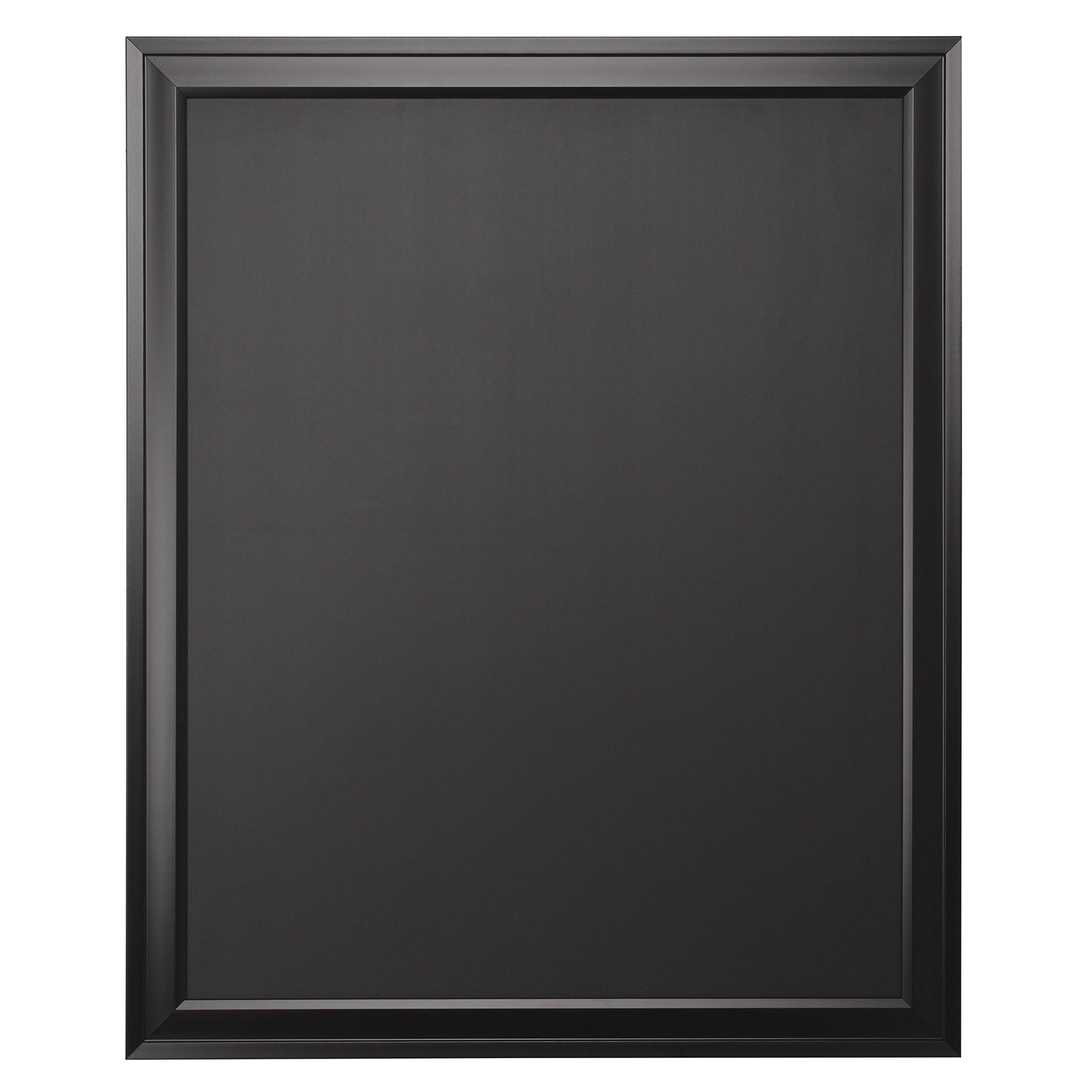 DesignOvation Bosc Wall Mounted Framed Magnetic Chalkboard, 27.5x33.5, Black by DesignOvation
