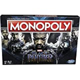 MONOPOLY - MARVEL - Black Panther Edition - Kids & Adults Board Games - Ages 8+