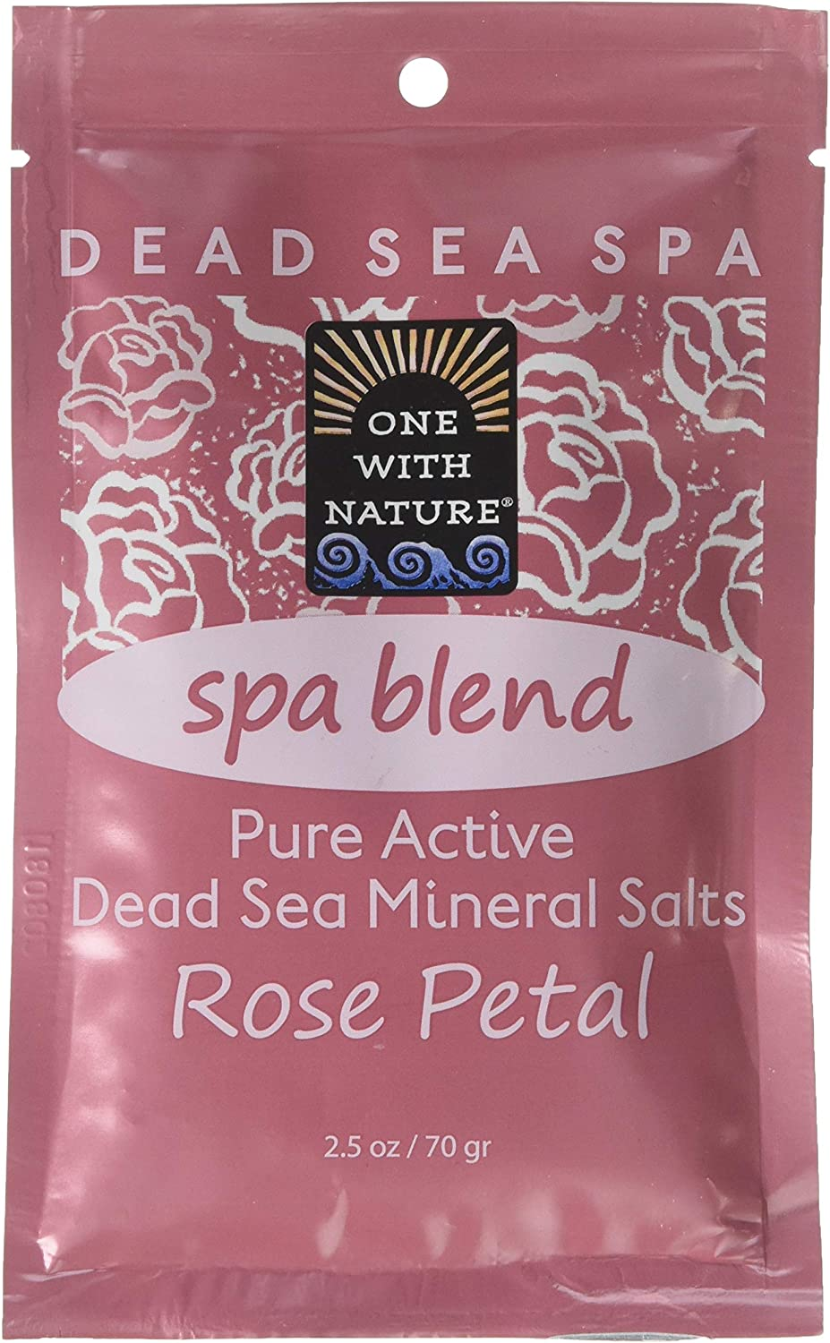 One With Nature Rose One with Nature Dead Sea Spa Blend Rose Petal Bath Salts, 1.13 Pound