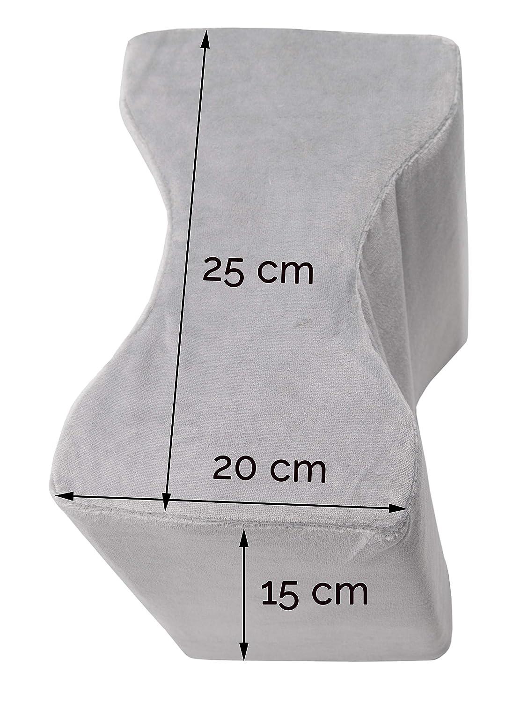 ZOLLNER Almohada viscoelástica para piernas, 15x20x25 cm, cojín para Rodillas