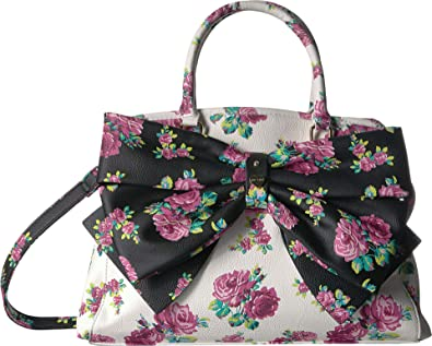 0950cd8ea5 Amazon.com  Betsey Johnson Women s Big Bow Satchel Cream Multi One ...