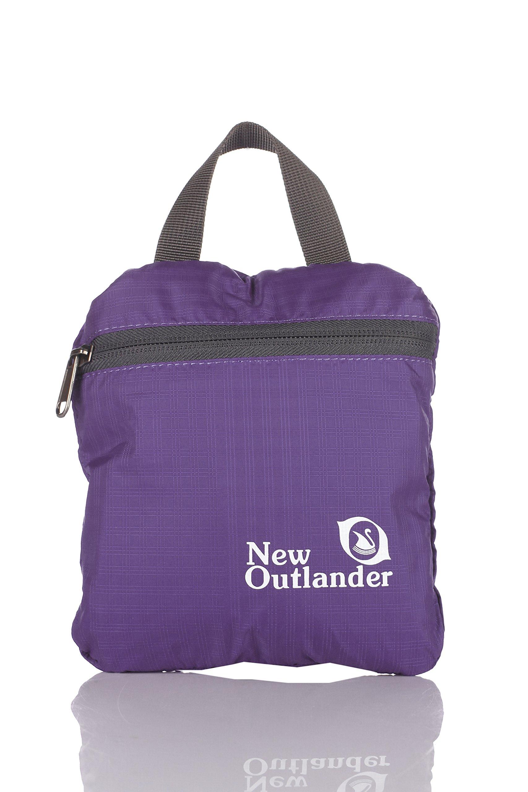 Outlander Packable Handy Lightweight Travel Hiking Backpack Daypack-Purple-L by Outlander (Image #4)
