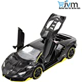 JVM Imported Die-Cast 4 Wheel Drive Metal Car Pull Back with 3 Openable Doors, Engine Cover, Tail with Front and Rear Light & Music Great Gift for Boys and Girls Above 4 Years Best Gift
