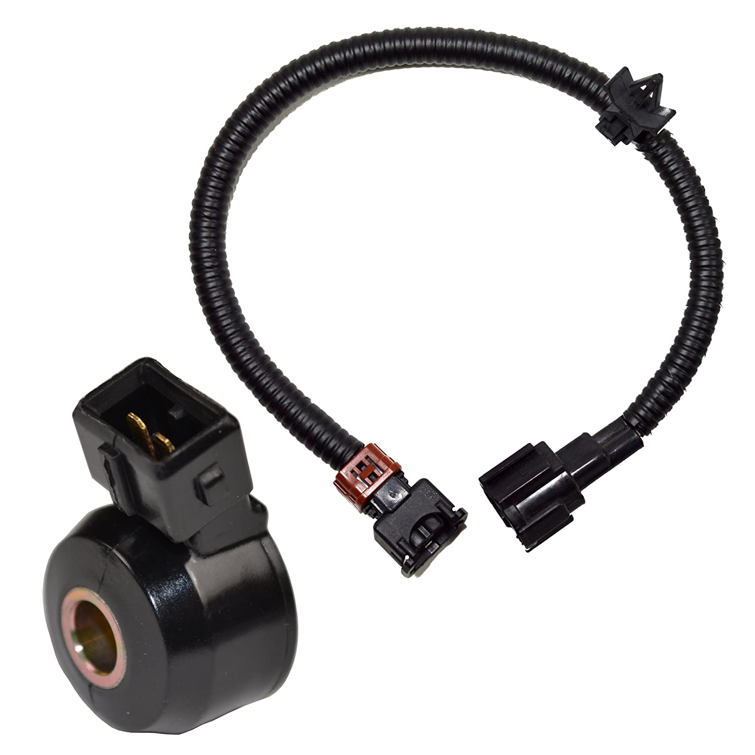 813wwbBFvfL._SL1500_ amazon com hqrp knock sensor w wiring harness for nissan maxima 2003 nissan xterra knock sensor wiring harness at bayanpartner.co