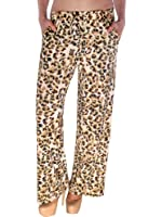 Simplicity Leopard Pattern Print Wide Leg Pants with Drawstring Waistband