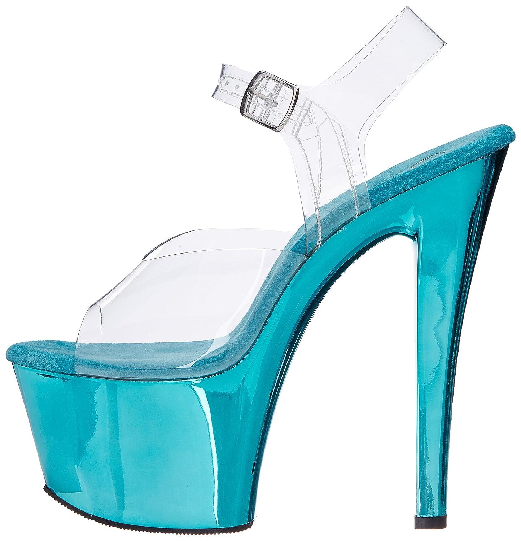 Pleaser SKY308/C/HPCH, Damen Sandalen Clr/Turquoise Chrome Chrome Clr/Turquoise fc26ba