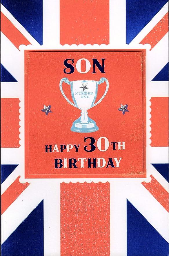 Tarjeta de cumpleaños de 30 cumpleaños para hijo con mensaje ...