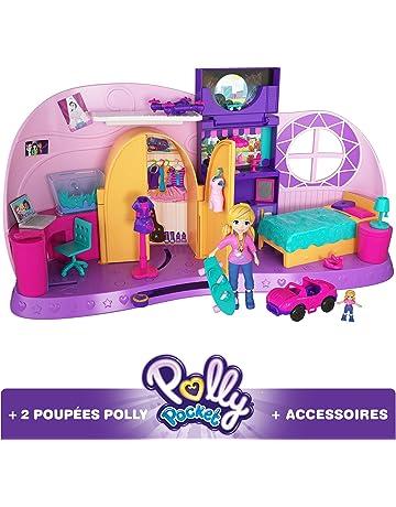 Polly Pocket Coffret La Chambre Métamorphose, 1 grande + 1 mini-figurine et  accessoires df393f819e28