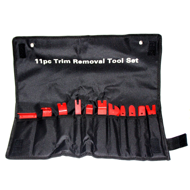 ROLINGER Car Trim Removal Tool Auto Body Panel Remover Set 11Pcs Car Body Repair Tools Door Panel Interior Window Upholstery Trim Remover Nylon Fastener Removing Tool for Car Interior Modification