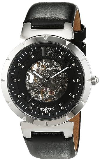 Carlo Monti CM800-102 - Reloj de mujer automático, correa de piel color negro: Carlo Monti: Amazon.es: Relojes