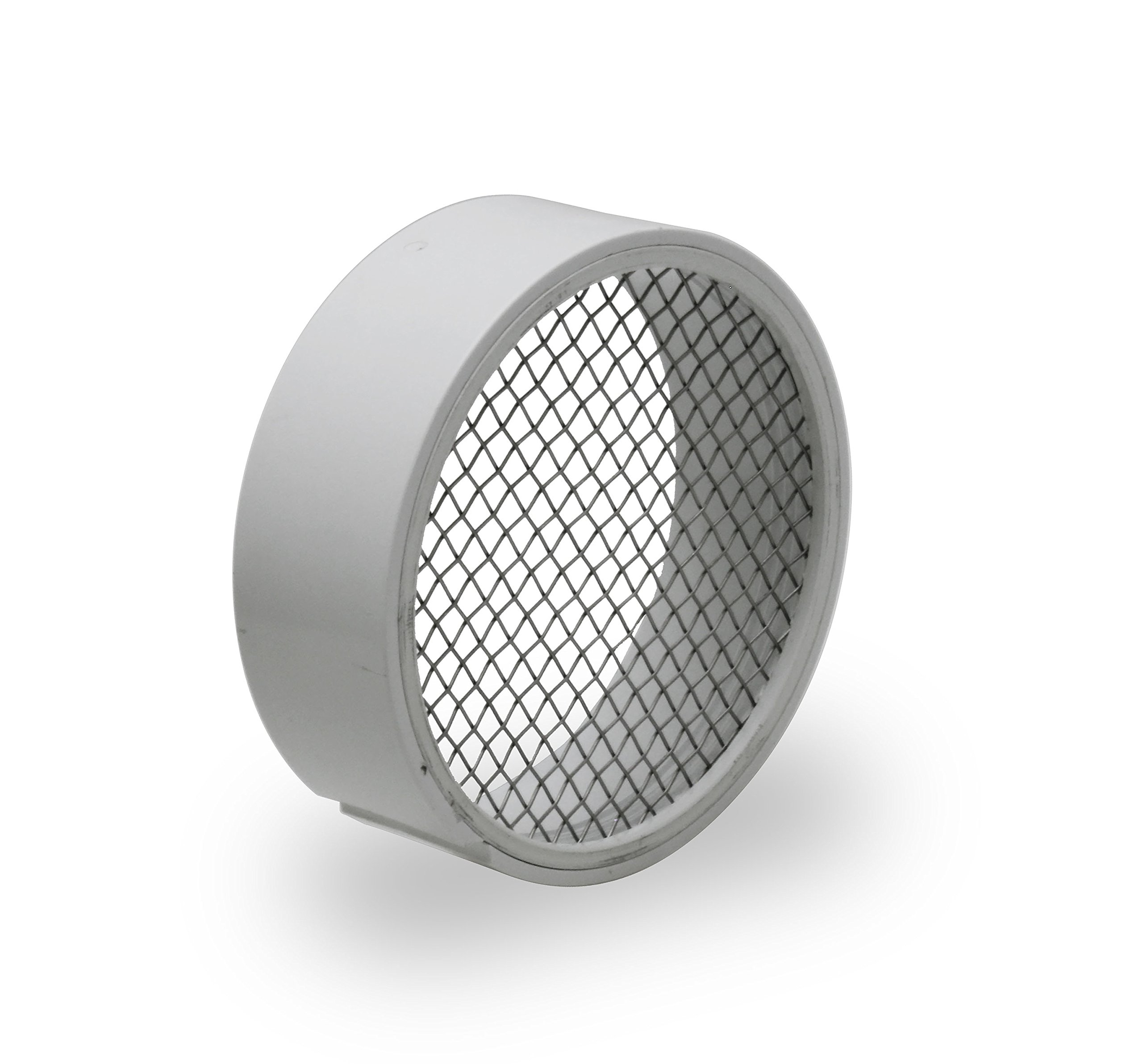Raven R1511 PVC Termination Vent with 304 Stainless Steel Screen, 6 Inch, Slotted Side for Condensation to Drain, Durable, Easy to Install in Hub of PVC Fitting, Maximum Airflow