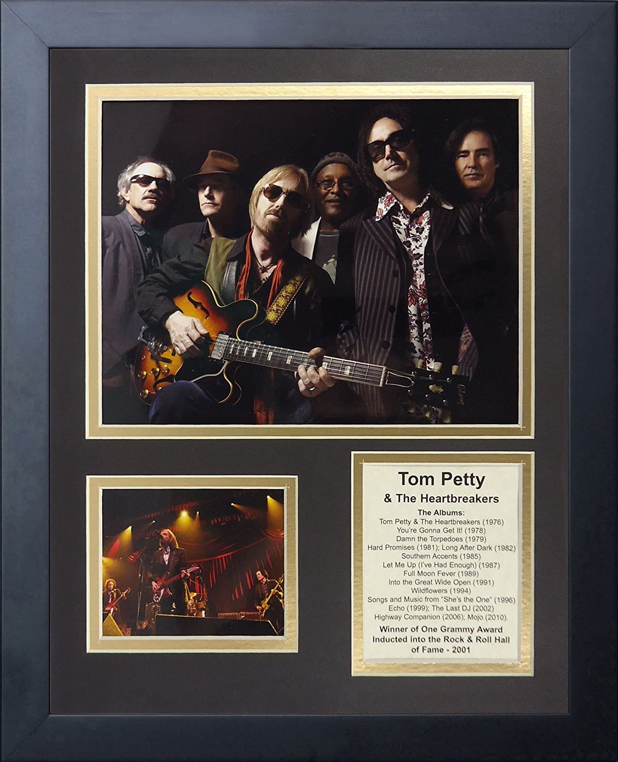 """Legends Never Die Tom Petty and The Heartbreakers Collectible, Framed Photo Collage Wall Art Decor - 12""""x15"""" (46075U)"""
