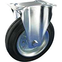 Bokwiel 125mm massief rubber rollager draagvermogen: 100KG