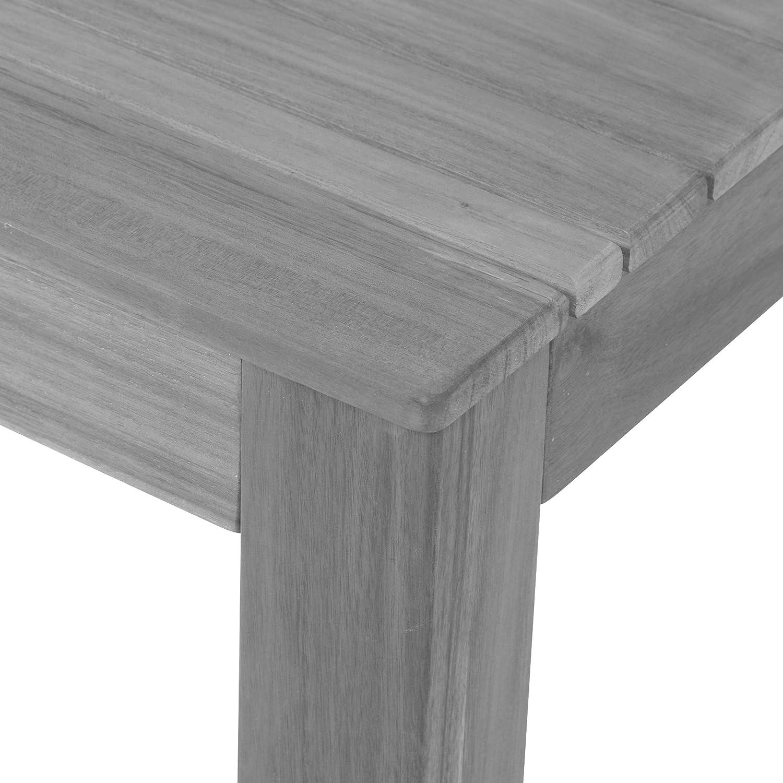 greemotion 36 Gartentisch MAUI aus Holz-Esstisch Garten, Terrasse &  Balkon-Holztisch rechteckig aus Akazie massiv-Tisch wetterfest für draußen,