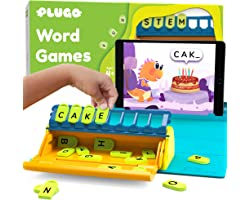 Plugo Letters by PlayShifu - Word Building with Phonics, Stories, Puzzles   5-10 Years Educational STEM Toy   Interactive Voc