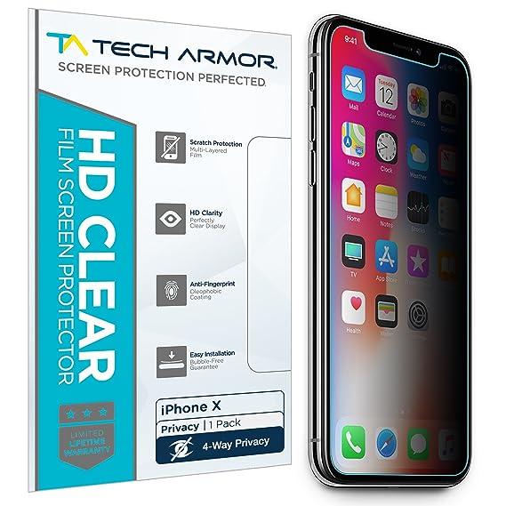 Amazon.com: Tech Armor Apple iPhone X/Xs 4Way 360 Degree Privacy ...