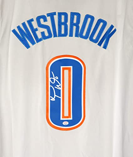 newest f655a 3fcc9 Russell Westbrook Oklahoma City Thunder Signed Autographed ...