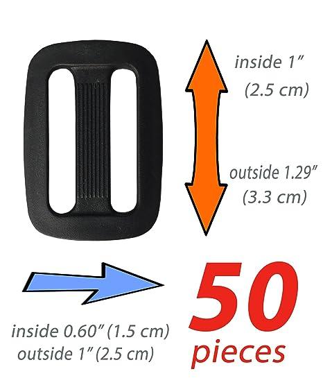 Plástico Triglides diapositivas - 1 cm de ancho para correa de ...