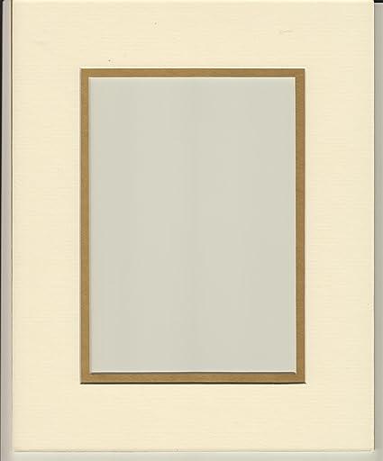 Amazon.com: 16x20 Cream & Gold Double Picture Mat, Bevel Cut for ...