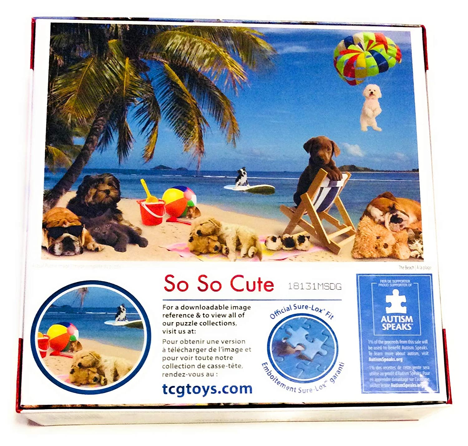 Dogs at The Beach 500 Piece Puzzle rachaelhale TCG Toys
