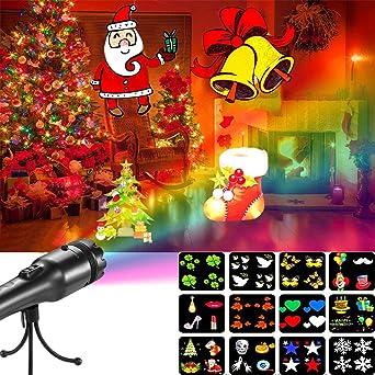 ABRRLO Portátil Luces de Proyector Navidad Interior y Exterior LED ...