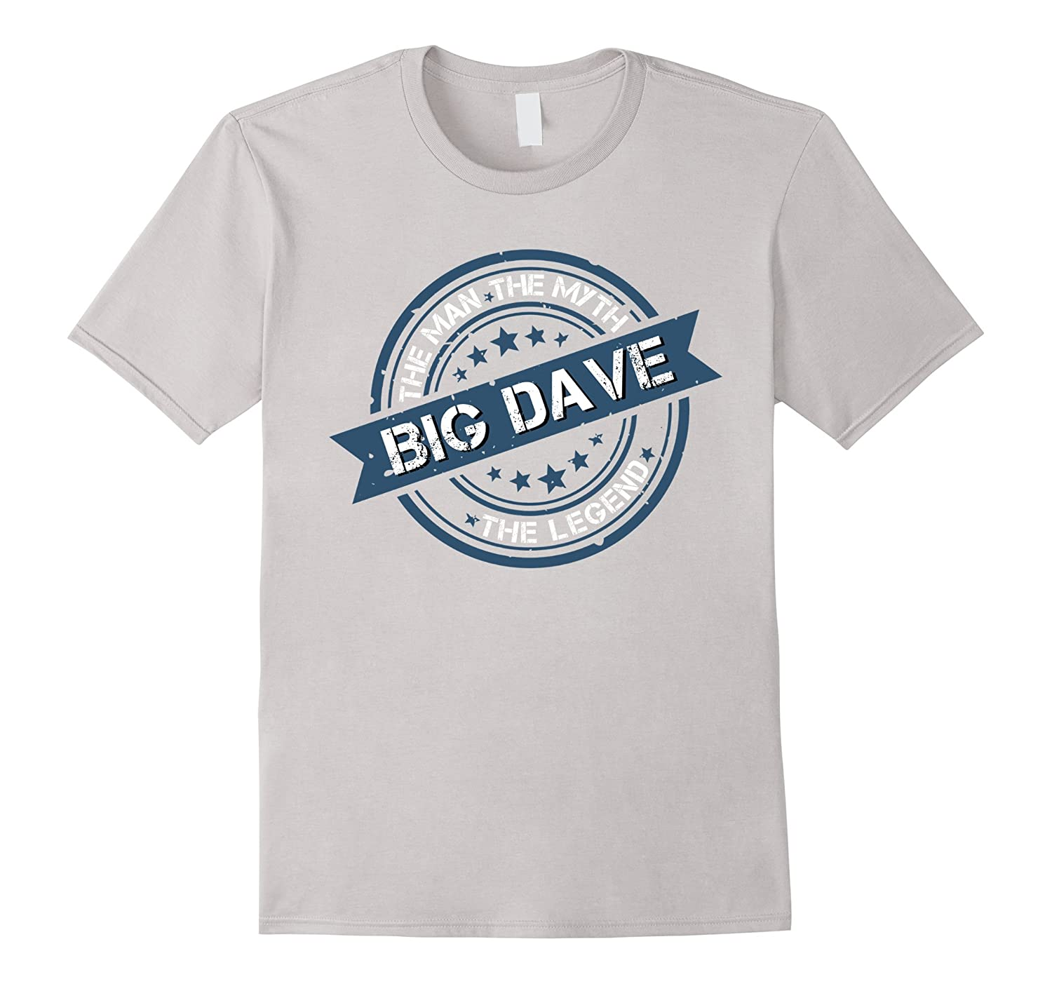 Big Dave The Man Myth Legend Vintage Seal Distressed Shirt-AZP