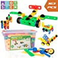 USA Toyz STEM Toys Building Blocks – 163pk BOLTZ Educational Toys for Construction or Engineering, Magnetic STEM Set for Boys, Girls, Toddlers or Kids