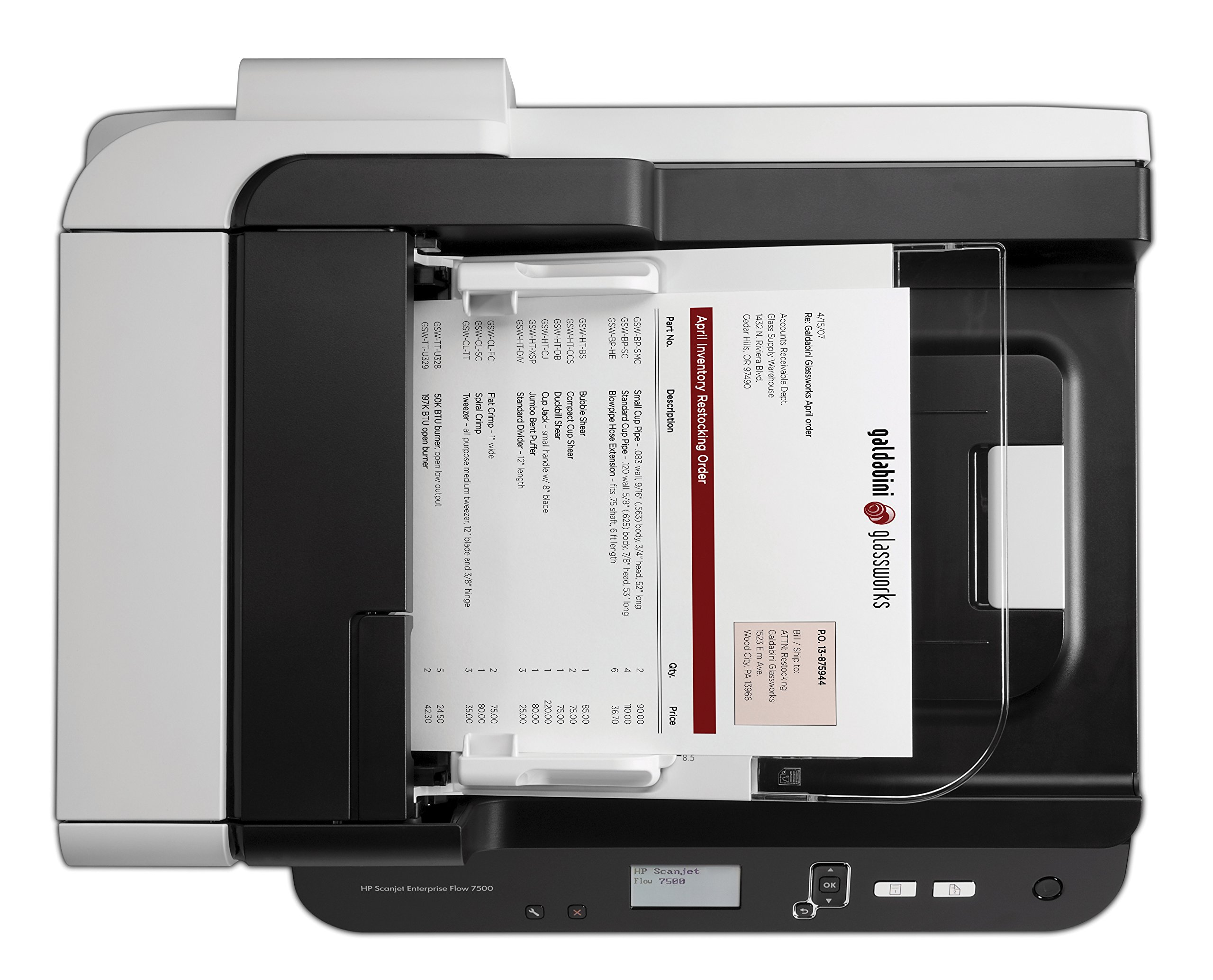 HP ScanJet Enterprise Flow 7500 Flatbed OCR Scanner by HP (Image #4)