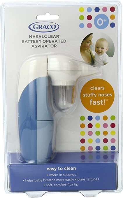 ASPIRATOR Safe Nasal Clear Baby Nose Cleaner Health Care Battery Operated