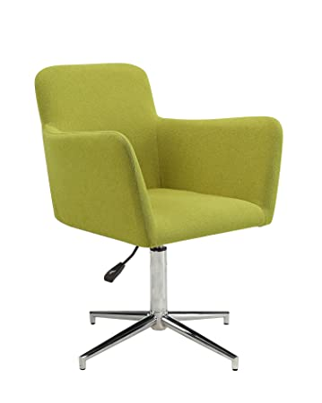 Elegant Scott Living Montoya Collection Side Chair In Chartreuse Fabric Upholstery