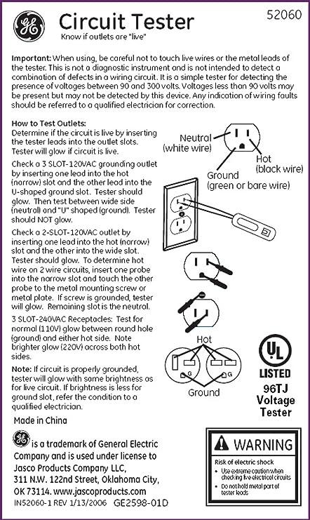 Power Gear 52060 90V - 300V AC/DC Circuit Tester - - Amazon.com