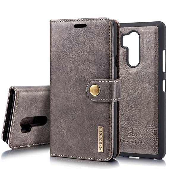 brand new 30fa4 3ed57 LG G7 Case/LG G7 ThinQ Leather Wallet Case, ZHFLY Magnetic Closure  Detachable Slim-Case Lightweight with Classic Design Leather Case Cover for  LG G7 / ...
