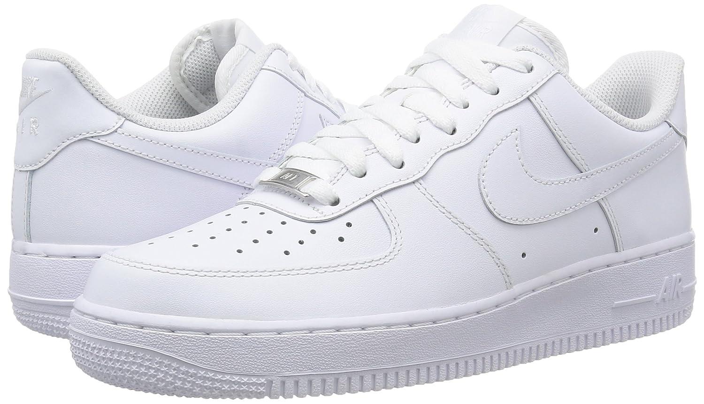 Amazon.com   Nike Air Force 1 07 Mens Shoes White/White 315122-111 (8.5 D(M) US)   Basketball
