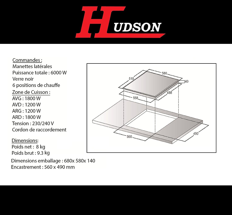Hudson tcv4mn placas de vitrocerámica: Amazon.es: Grandes ...